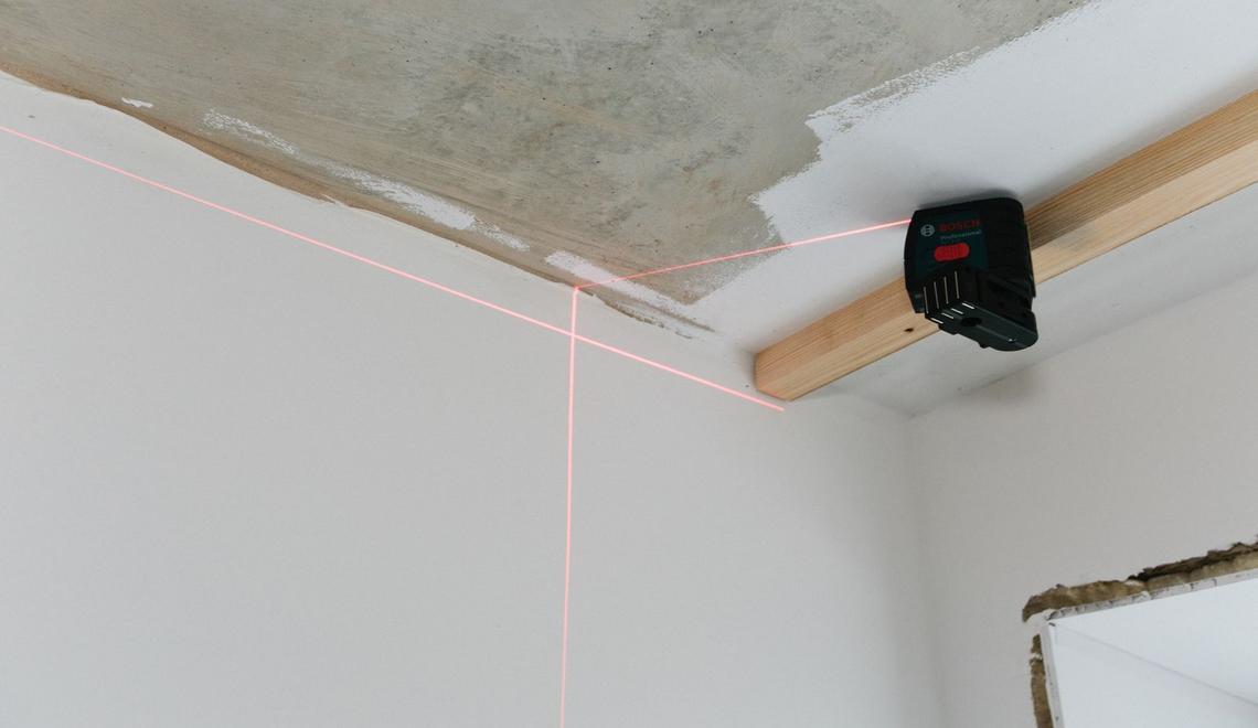 Фото - Разметка лазерным нивелиром